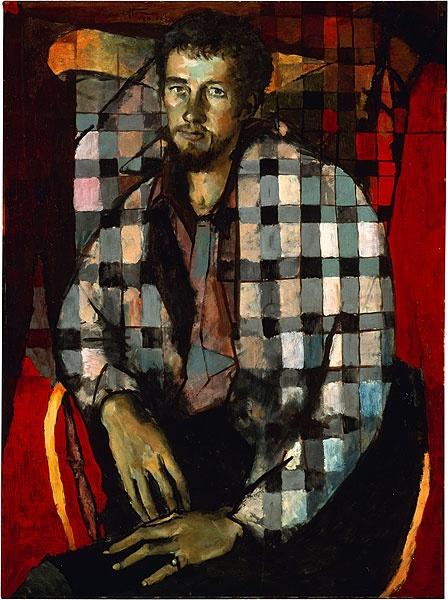 Clifton Pugh ~ Portrait of an Australian artist (Kevin Meynell), 1956