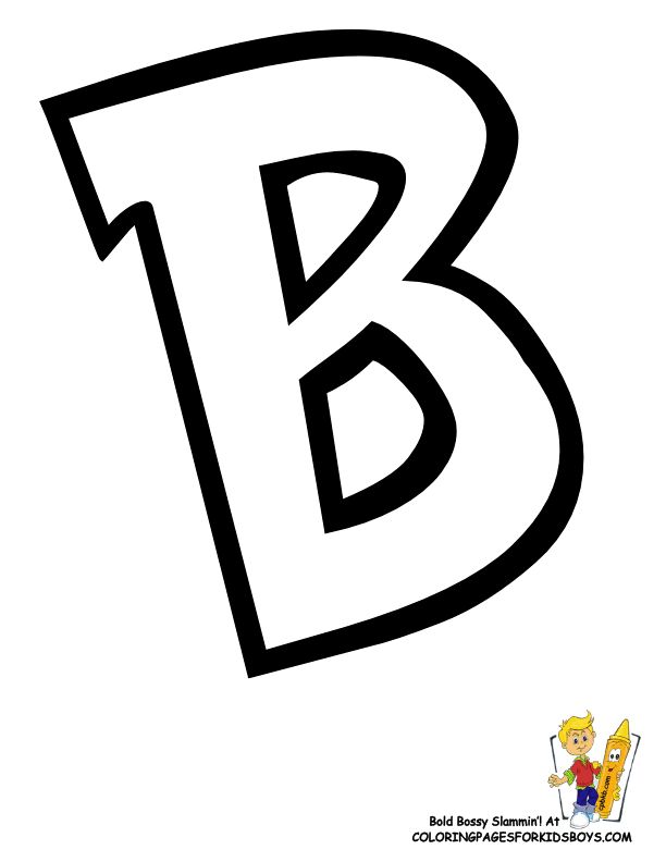You Can Print Out This #Pokemon #Alphabet #ColoringPage Now...  http://www.yescoloring.com/images/Preschool_Alphabet_Coloring_Pages_B_coloringkidsboyscom.gif