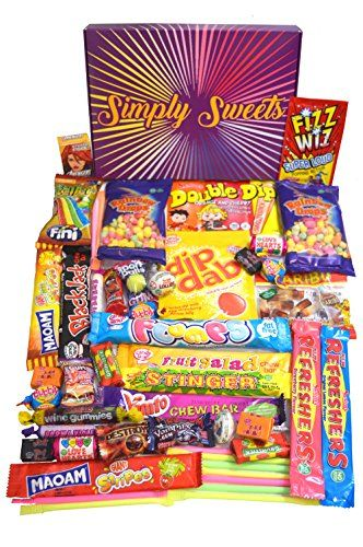 Simply Sweets retro sweet hamper gift box. Packed with 48 of the best retro sweet. A perfect present for Birthdays No description (Barcode EAN = 7426774180305). http://www.comparestoreprices.co.uk/december-2016-3/simply-sweets-retro-sweet-hamper-gift-box-packed-with-48-of-the-best-retro-sweet-a-perfect-present-for-birthdays.asp