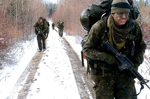 training for combat for their mission in Afghanistan #Canadian #Military