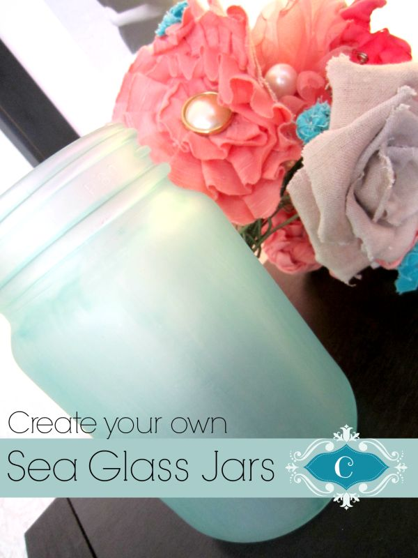 Create your own beautiful sea glass jar with things laying around the house. This is seriously so easy to do and they turn out so gorgeous!