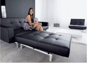 Marvelous Innovation   OZ Futon Sofa In Black Pictures Gallery