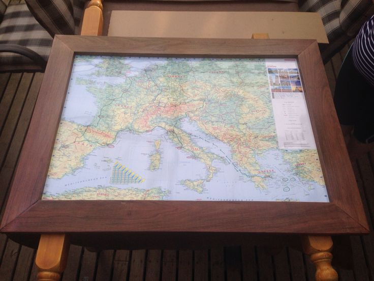 Europe trip poster with my home made frame