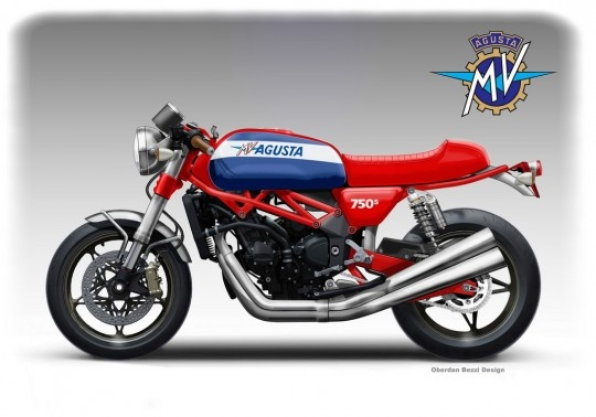 MV Agusta 750 Sport - made up, but cool.