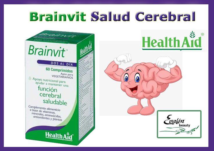 #Brainvit de #HealthAid - Ayuda a disminuir la fatiga mental. - Refuerza la capacidad de concentración y memoria. - Favorece la recuperación de la agilidad mental. - Contribuye a alcanzar un óptimo rendimiento intelectual. - Disminuye el daño oxidativo, reduciendo la severidad de los desórdenes del sistema nervioso central. #EvalénBeauty