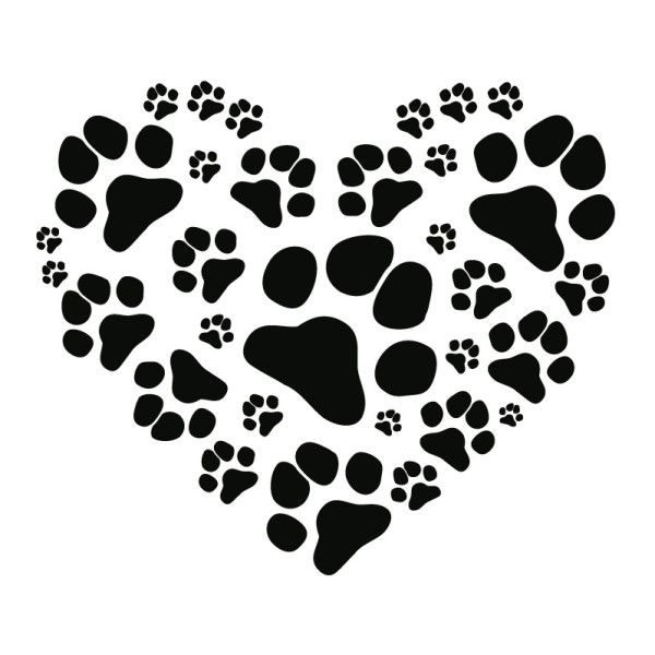 Wall Decal Paw Heart Cat – Picture 3