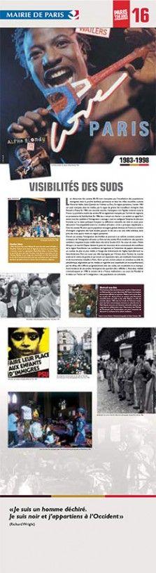 N°16 : Visibilités des suds. Les décennies des années 80-90 sont marquées par l'installation des populations  immigrées dans la proche banlieue parisienne et dans les villes nouvelles comme Marne-la-Vallée, Saint-Quentin-en-Yvelines ou Évry. © Groupe de recherche Achac