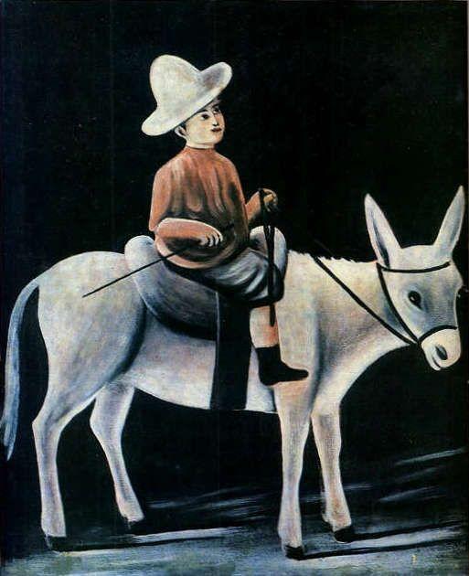 A Little Boy Riding a Donkey / PIROSMANI