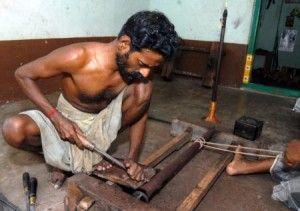Nadaswaram being Made http://aboutindianmusic.com/2011/11/indian-instruments-nadaswaram/