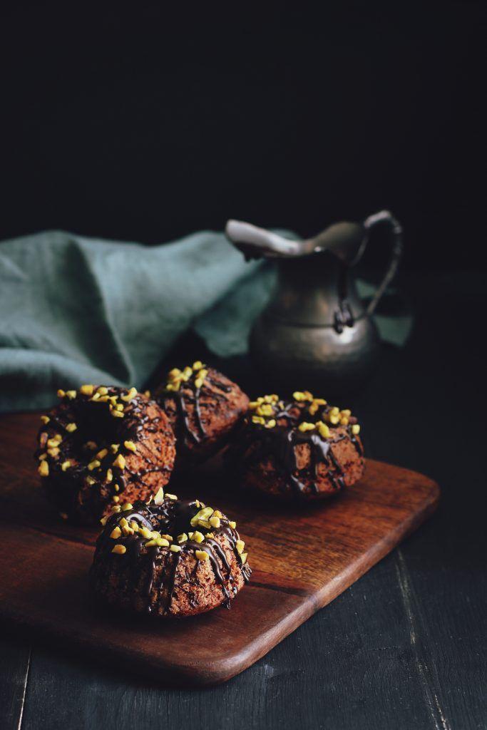 Tortine al cioccolato e pistacchi -  Chocolate Cakes and Pistachios