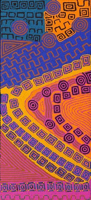 Gloria Napangardi Gill ~ Ngurlu Jukurrpa (Native Seed Dreaming)
