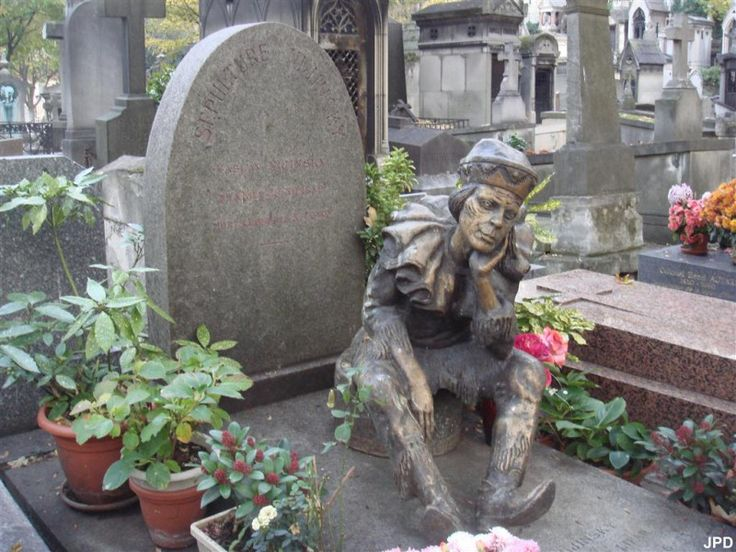 clown-cimetière-montmartre-paris-statue 20 Avenue Rachel, 75018 Paris