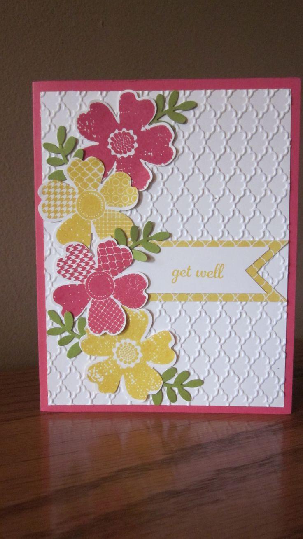 Stampin' Up! Flower Shop stamp set and Fancy Fan Embossing folder