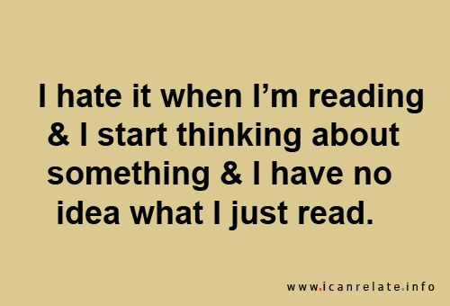 I swear I do that with everything...