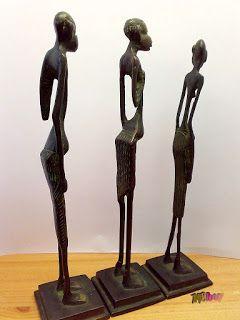 Gondolatébresztő. Érdekességek a nagyvilágból.: Afrikai bennszülött bronz szoborcsoport, gyűjtemén...