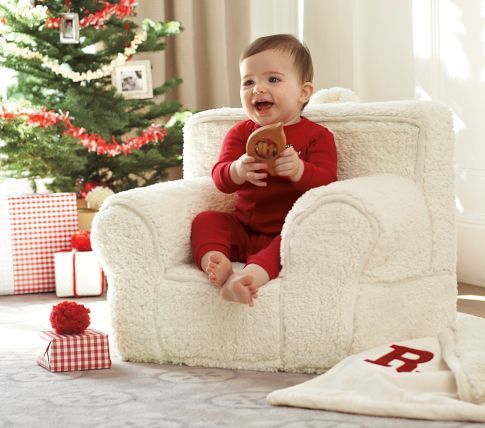 Cream Sherpa My First Anywhere Chair | Pottery Barn Kids LOVE $109