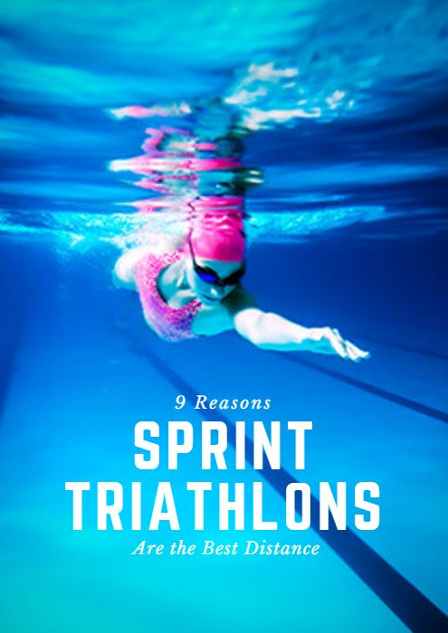 Sprint triathlons can vary in distance, but generally they include a 0.5-mile (750 m) swim, 12.4-mile (20K) bike and 3.1-mile (5K) run. In addition to simply being a great gateway into the sport of triathlon, sprint distances have a lot to offer newcomers and novices alike. 9 Reasons Sprint Triathlons Are the Best Distance #IRONMAN