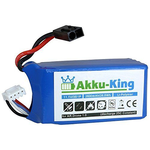 Sale Preis: Akku-King Akku für Parrot AR.Drone 1.0, AR Drone Quadrocopter - Li-Polymer 2600mAh 11.1V. Gutscheine & Coole Geschenke für Frauen, Männer und Freunde. Kaufen bei http://coolegeschenkideen.de/akku-king-akku-fuer-parrot-ar-drone-1-0-ar-drone-quadrocopter-li-polymer-2600mah-11-1v