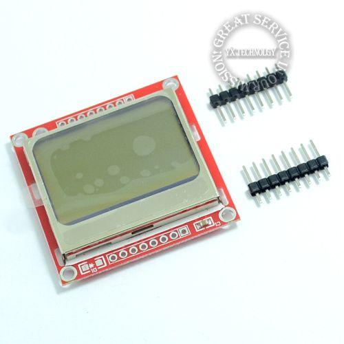 Alta calidad 84x48 84x84 lcd módulo de luz de fondo roja pcb adaptador para nokia 5110 para arduino