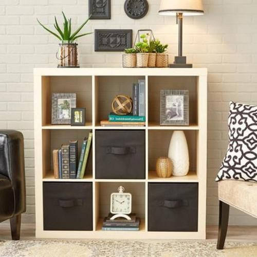 Organize your home using this 9-cube storage organizer bookcase furniture cabinet shelf. This 9-cube storage organizer bookcase furniture cabinet shelf creates multiple ways of solution. It is very easy to assemble