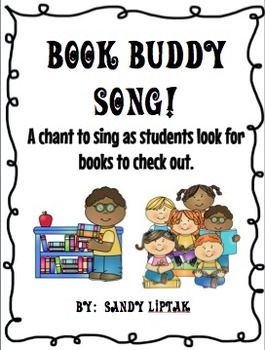I originally came across this wonderful chant athttp://www.pkwy.k12.mo.us/panda/minilessons/minielem/shelfmark.htm when I was browsing through different librarian websites when I first got hired.  I wanted to get some ideas on how to teach my Pre-K and Kinder students on how to use their book buddies correctly when taking a book off the shelf.