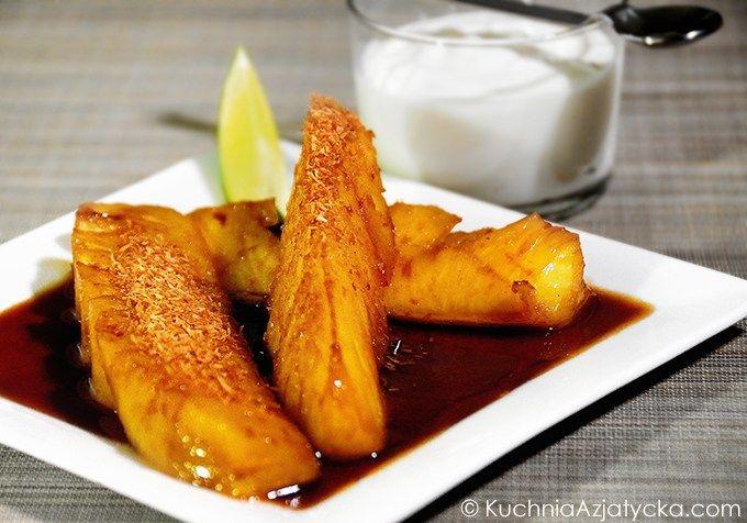 Smażony ananas
