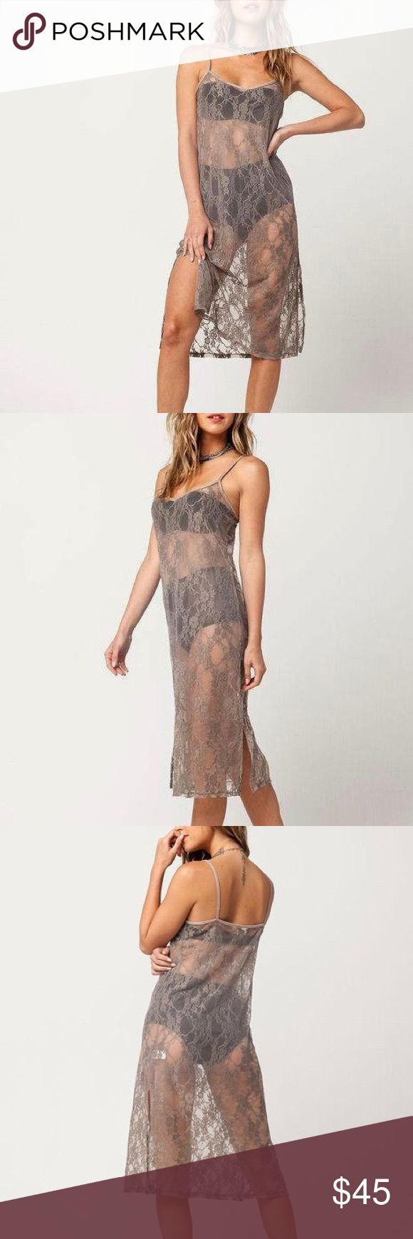 ❤️ SEXY TAN LACE DRESS Size XS Sexy taupe lace dress Size S made by H.I.P Sheer. Dresses Midi