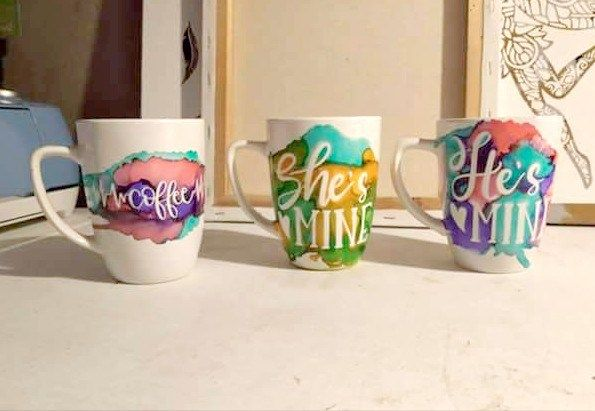 Cricut Craft Alcohol Ink Mugs Alcohol Ink Crafts Alcohol Ink