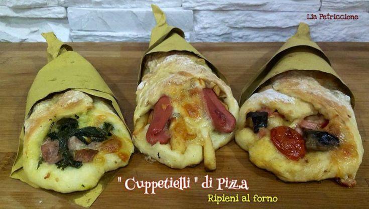"""I Coni di Pizza sono un modo diverso e molto sfizioso per servire la pizza! Io ne ho realizzato una versione piccola, quindi non """"cuoppi"""" ma """"cuppetielli""""!"""