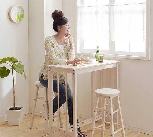 красивые высокие столы для современной маленькой кухни