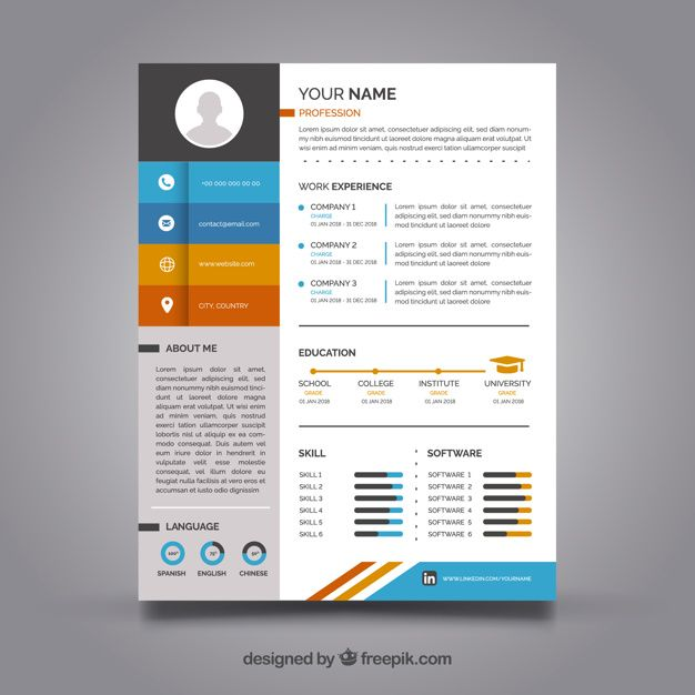 Download Colorful Resume Template For Free In 2020 Resume Template Resume Template Free Downloadable Resume Template