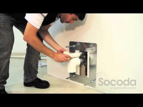 Sanitario tipo A Socoda, elaborado en un solo cuerpo monolítico, diseñado para alta seguridad y uso pesado, para instalación sobre pasillo técnico o de inspección.