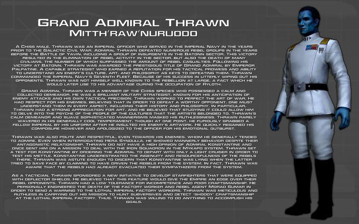 Grand Admiral Thrawn character bio [New] by unusualsuspex.deviantart.com on @DeviantArt
