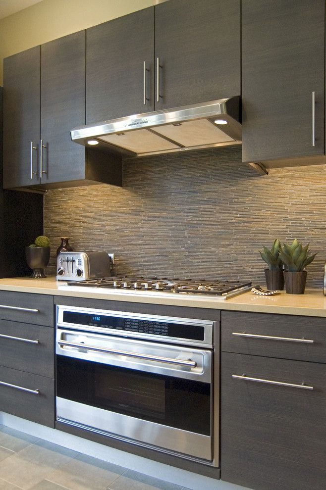 Modern Kitchen Backsplash Dark Cabinets best 25+ slate backsplash ideas on pinterest | stone backsplash