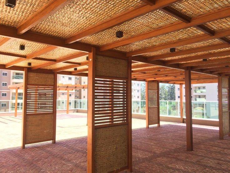 Pergolado Garapeira e Forro de bambu - Mais uma obra com assinatura COBRIRE!! #cobrire #pérgola #pergolado #caramanchão #gourmet #forrodebambu #bambu #madeira #design #arquitetura #paisagismo #decoração #decor #architecture #archilovers #architect #wood #landscape #outdoors #style #life #lifestyle #sun #summer #arq #rústico #nature #construtorapatrimar #deck