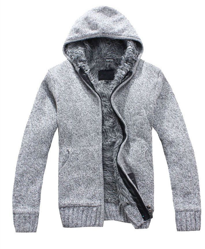 Blusas Masculinas Winter Sweater Men 2016 New Fashion Spring Autumn Thick Hooded Sweaters Cardigan Clothing MZM179