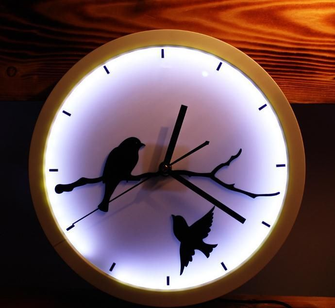 12Inch Glowing Wall Clocks Fashion glow in the dark LED wall clock - wanduhren modern