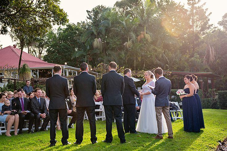 The sun kissing this Byron Bay Wedding Ceremony. Pic Richard Windeyer. Byron Bay Wedding Celebrant.