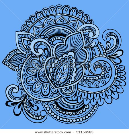 nested blue paisleys