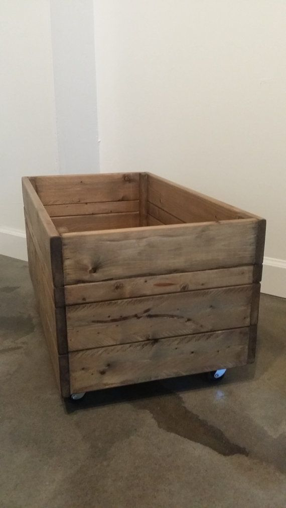 $75 This is the Extra Large Rolling Crate. The possibilities with this rolling wooden crate are endless. Handmade, one at a time in my shop, you