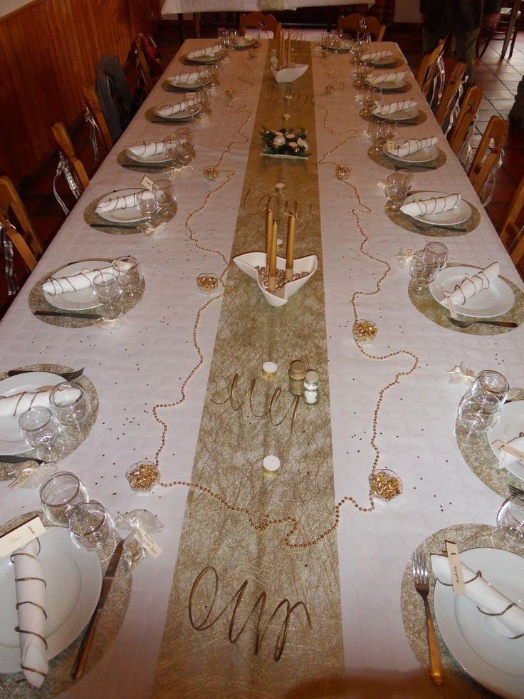 Decoration De Table Noces D Or Noces D Or Wedding Mariage Et Decor
