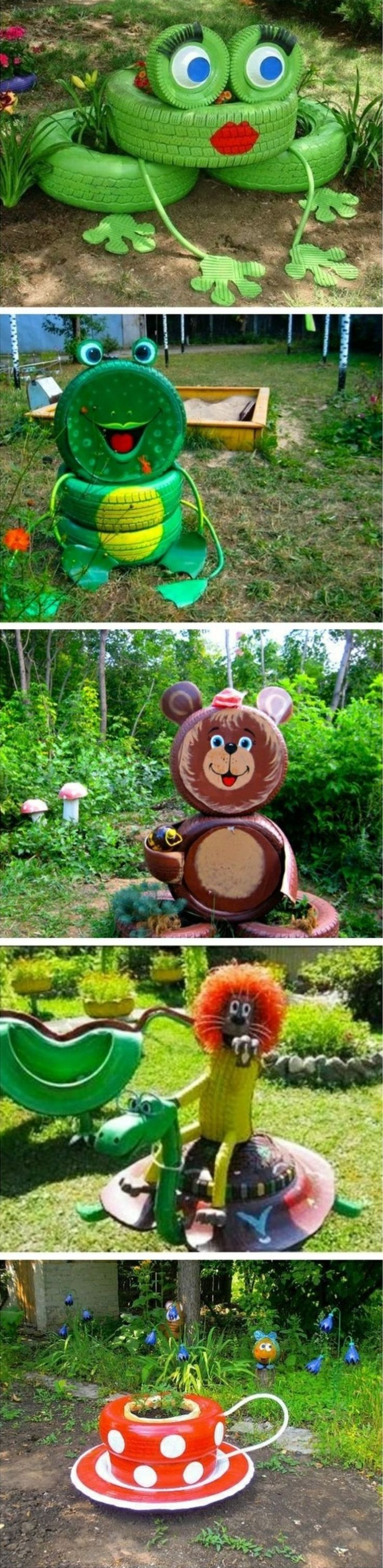 Do it yourself garden art super cute garden crafts for kids do it find this pin and more on do it yourself ideas with old tires u examples solutioingenieria Gallery