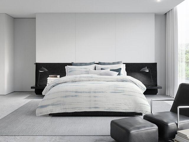Vera Wang Marble Shibori Bedding Comforter Sets Luxury Bedding Bed