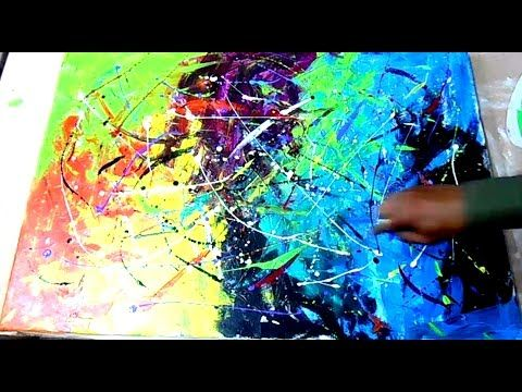 "Abstract Art Painting Techniques Acrylics on Canvas by Peter Dranisin ""Three Phases"" - YouTube"
