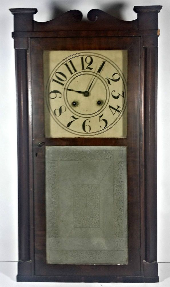 Antique CHARLES STRATTON OG Ogee Mantle Shelf Clock 1839 Weight Movement Holden In Collectibles Clocks