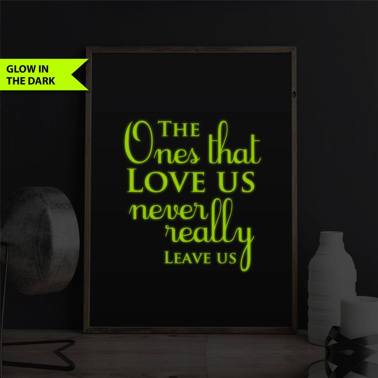 Harry Potter Print Glow In The Dark Bedroom Decor Harry Potter Decor Quote Book Quote Movie Line Print 8x10 Poster The Ones That Love Us by FixateDesigns on Etsy