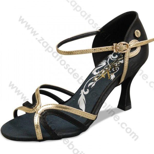 Zapatos baile salón latino oro y negro profesional - Zapatos de Baile Online http://www.zapatosdebaileonline.com/es/product/a2177-01-zapatos-baile-salon-latino-negro-y-oro