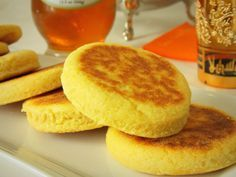 Harcha, a pan-fried flatbread made from semolina, butter and milk