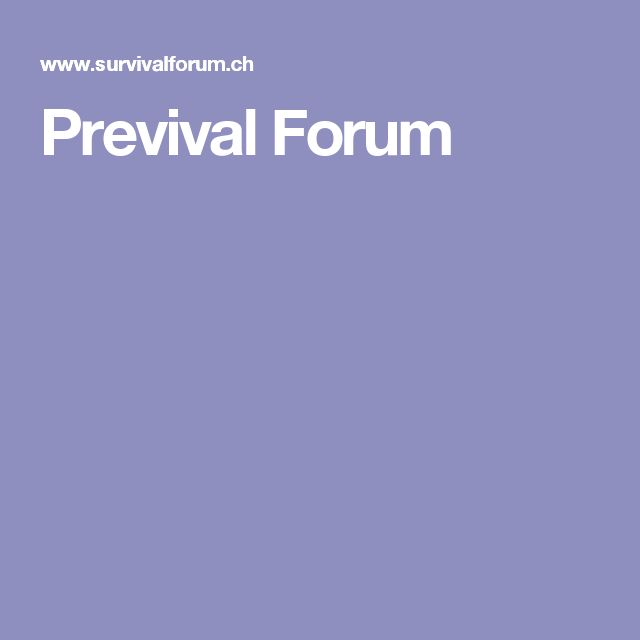 Previval Forum