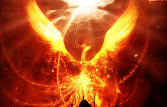 possible representation for fire. phoenix feather, bright orange, reds and yellows.  Fairy